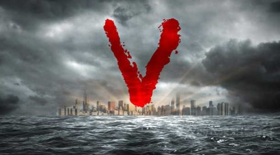 the v logo, which is more interesting than the cast shot