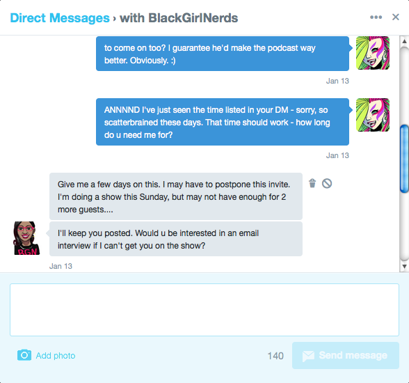 Black Nerd Girls DM 2